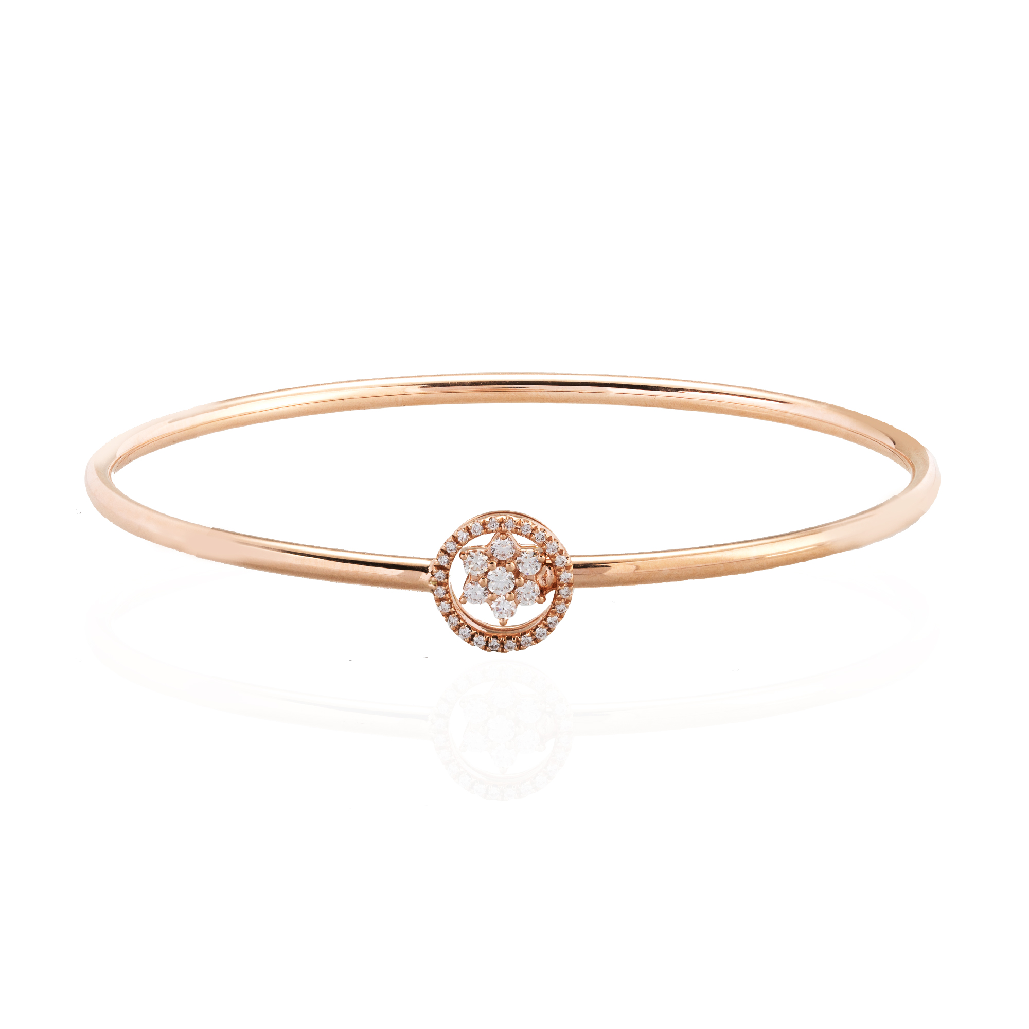of cut bangle white diamond rose picture gold nigaam